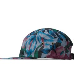 HUF Navy Hawaiian Oxford Volley Cap Model Picutre