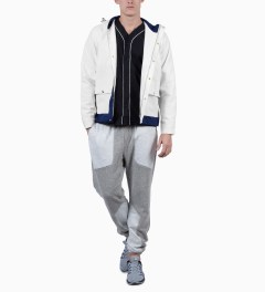 Shades of Grey by Micah Cohen Off White/Classic Blue Colorblock Sailing Jacket Model Picutre