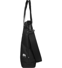 Stussy Black World Tour Tote Bag Model Picutre