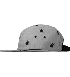 HUF Black Oxford Embroidered Plant Life Volley 5-Panel Cap Model Picutre