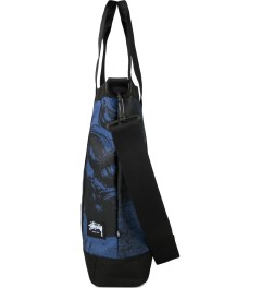 Stussy Blue World Tour Tote Bag Model Picutre