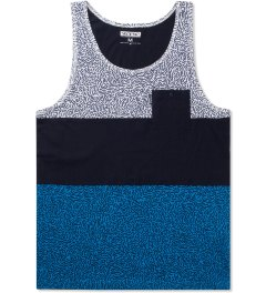 Staple Blue Scribble Tank Top Picutre