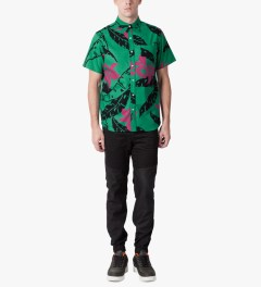 HUF Teal Copacabana S/S Woven Shirt Model Picutre