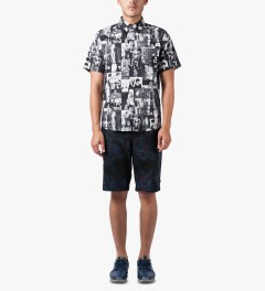 HUF Midnight Floral Easy Shorts Model Picutre