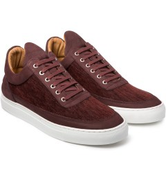 Filling Pieces Burgundy Low Top Carpet Textile Shoe Model Picutre