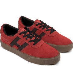 HUF Vermilion/Black Choice Low-Top Shoes Model Picutre