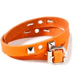 CASH CA Jam Home Made x CASH CA Orange Leather Studs Bracelet Picutre