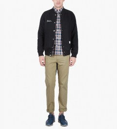 Head Porter Plus White Nel Check L/S Shirt Model Picutre