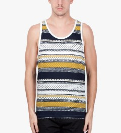 Stussy Navy Dot Tom Tank Top Model Picutre