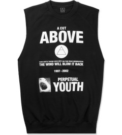 A Cut Above Black Fear Sleeveless Sweater Picutre
