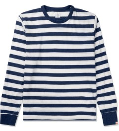 Head Porter Plus Navy Border L/S T-Shirt Picutre