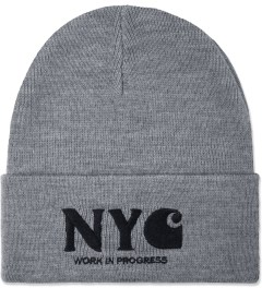 Carhartt WORK IN PROGRESS Elastance Grey/Black NYC Beanie Picutre