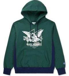 Mark McNairy for Heather Grey Wall Green Sweat Parka Eagle Sweater Picutre