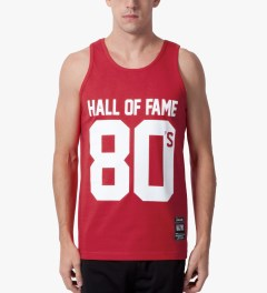 Hall of Fame Red 80's Tank Top Model Picutre