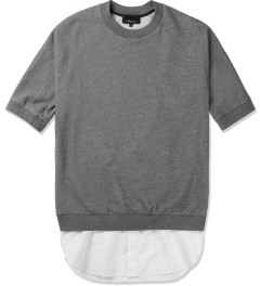 3.1 Phillip Lim Grey Melange Tail Pullover S/S Shirt Picutre