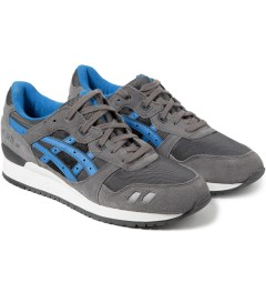 ASICS Grey/Mid Blue Asics Gel Lyte III Sneakers Model Picutre