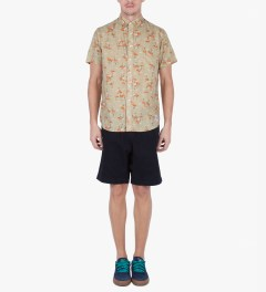 Grind London Beige Flamingo S/S Shirt Model Picutre