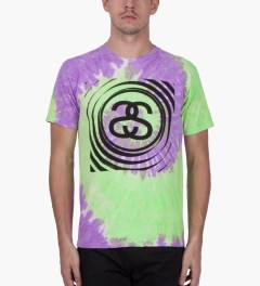 Stussy Purple Spiral SS Tie-dye T-Shirt Model Picutre