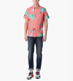 HUF Peach 1986 S/S Woven Shirt Model Picutre