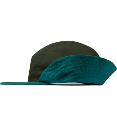 HUF Olive Flapback Cinch Volley Cap Model Picutre