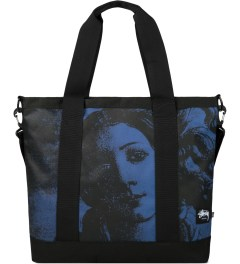Stussy Blue World Tour Tote Bag Picutre