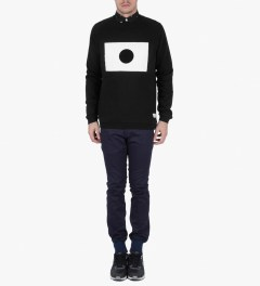Libertine-Libertine Black/White Grill Moon Sweatshirt Model Picutre