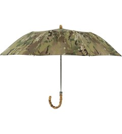 London Undercover Camo Whangee Cane Crook Folded Multicam Camouflage Umbrella Picutre