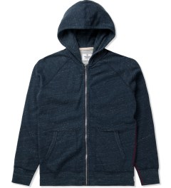Reigning Champ Heather Navy RC-3251 Knit Heather Terry L/S Raglan Sleeve Full Zip Hoodie Picutre