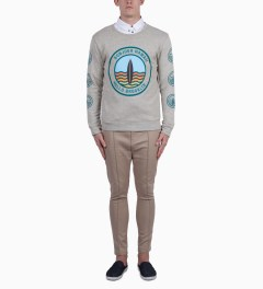 BWGH Grey/Green Surf Sweater Model Picutre
