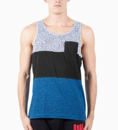 Staple Blue Scribble Tank Top Model Picutre
