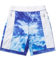 AURA GOLD Blue Digital Cloud Shorts Picutre