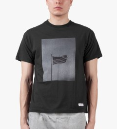 Deluxe Black J.W. x Deluxe American Flag T-Shirt Model Picutre
