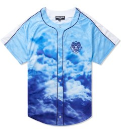 AURA GOLD Blue Digital Cloud Baseball Jersey Picutre