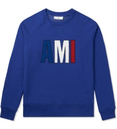 "ami Blue ""Friend"" Crewneck Sweatshirt Picutre"