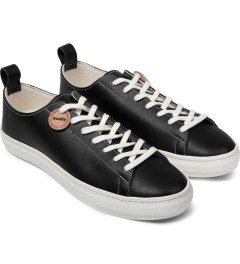 Buddy Black Bull Terrier Low Smooth Shoes Model Picutre