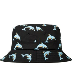 Odd Future Black Dolphin Donut All Over Bucket Hat Model Picutre
