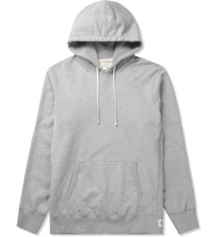 Reigning Champ Heather Grey RC-3206-1 Midweight Twill Terry L/S Pull Over Hoodie Picutre