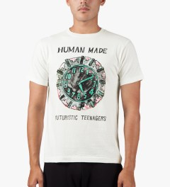 Human Made White Clock T-Shirt Model Picutre