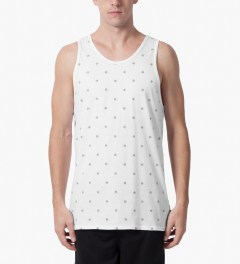 HUF White Circle H Tank Top Model Picutre