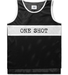 Mark McNairy Black/White One Shot Mesh Tank Picutre