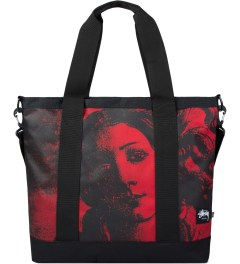 Stussy Red World Tour Tote Bag Picutre