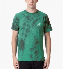 HUF Jade Small Script Crystal Wash T-Shirt Model Picutre