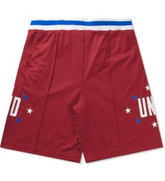 Undefeated Red Global Mesh Shorts Picutre