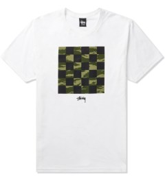 Stussy White/Tiger Camo Check T-Shirt Picutre