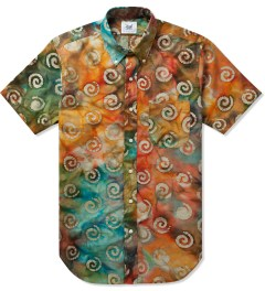 Mark McNairy Green SS BD GREEN BATIK SHIRT Picutre
