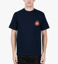 Benny Gold Navy Airborne Div. T-Shirt Model Picutre