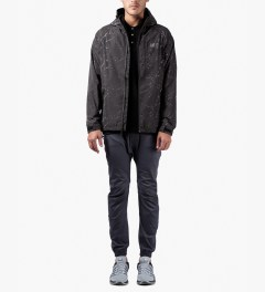 HUF Black Marble 10K Tech Jacket Model Picutre