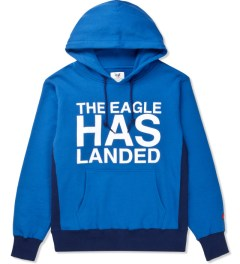 Mark McNairy for Heather Grey Wall Blue Sweat Parka Logo Sweater Picutre