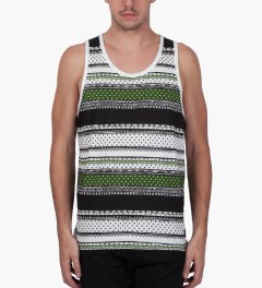 Stussy Black Dot Tom Tank Top Model Picutre