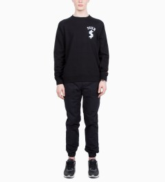 SSUR Black SSUR Down By Law Flock Print Crew Neck Model Picutre